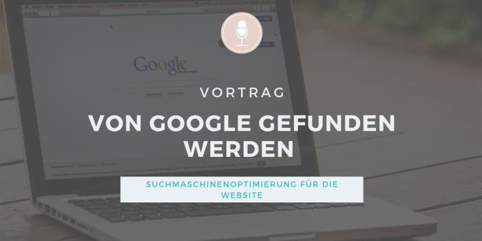 Vortrags-Icon: So wird die Website von Google gefunden. Suchmaschinenoptimierung / SEO für Vereine, Stiftungen, Verbände, Non-Profit-Organistationen und Selbstständige