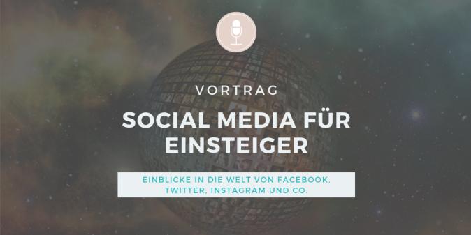 Vortrags-Icon: Social Media für Einsteiger. Überblick über Facebook, Instagram, Twitter und Co für Vereine, Stiftungen, Verbände, Non-Profit-Organistationen und Selbstständige